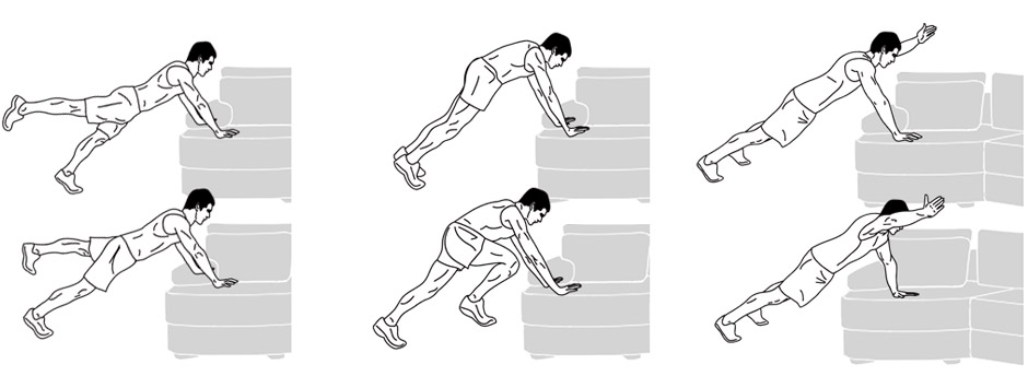Modifications / Exercise Alternatives - Planks
