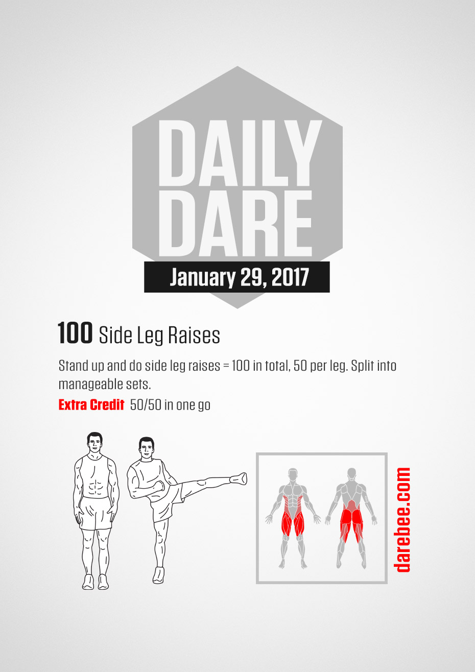 DD - 29 January 2017 ] 100 Side Leg raises - The Hive
