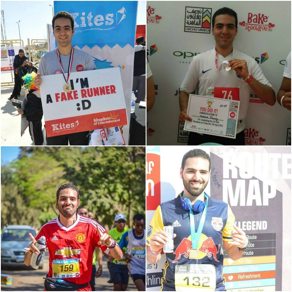 My past 4 half marathons