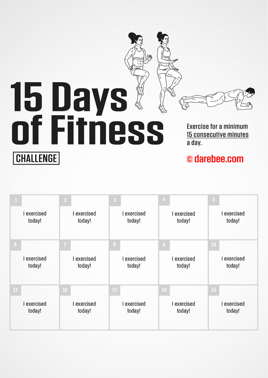 15-Day of Fitness Challenge by DAREBEE
