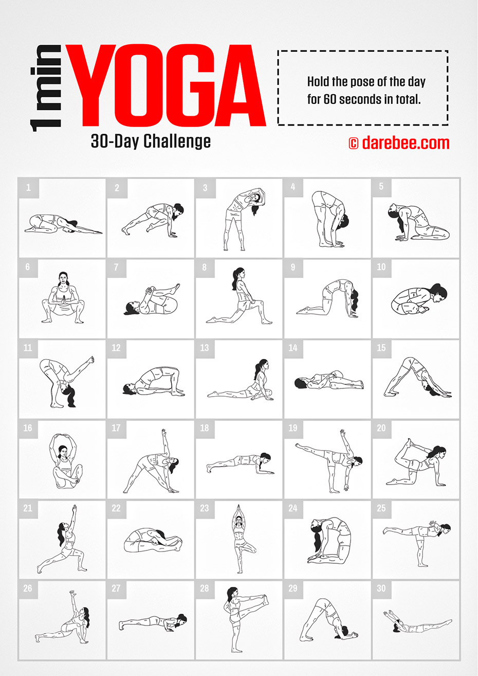 30 Day Fitness Challenge By DAREBEE