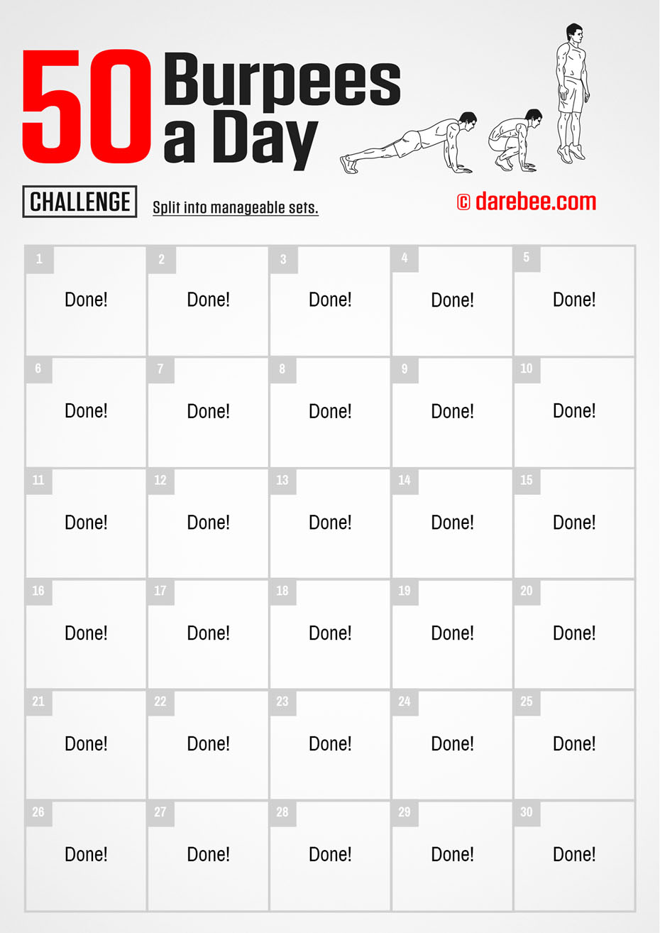 30-Day of Fitness Challenge by DAREBEE