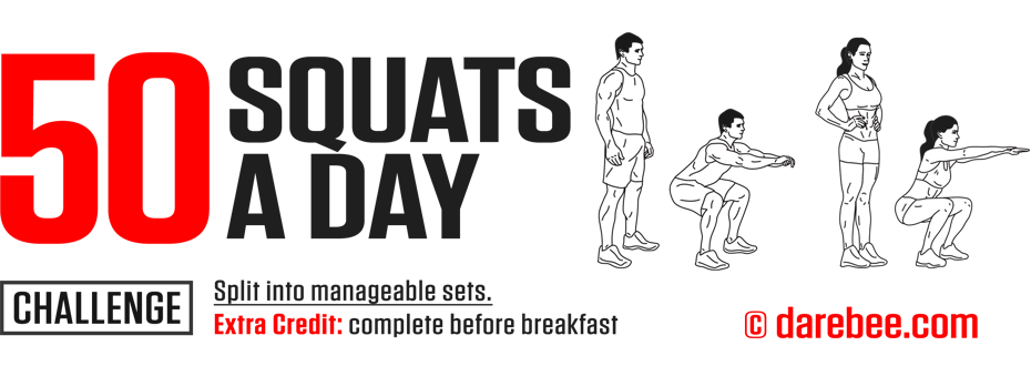 50 Squats a Day Challenge