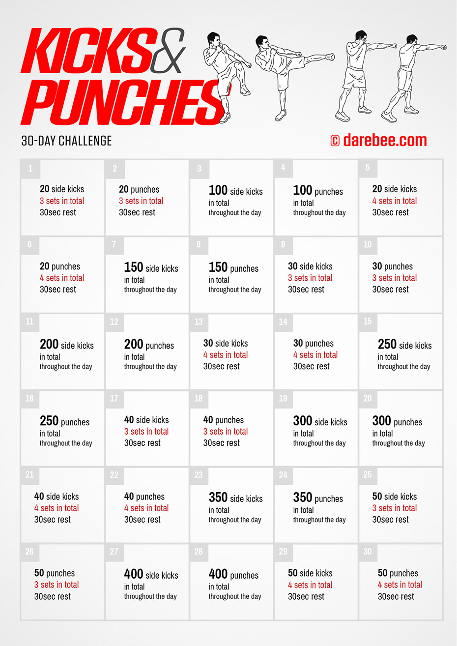 30-Day Fitness Challenge by DAREBEE