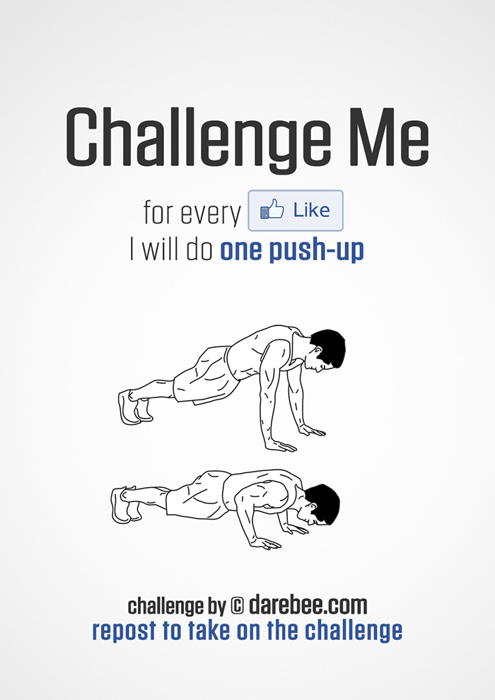 Challenge Me to Push-Ups on Facebook
