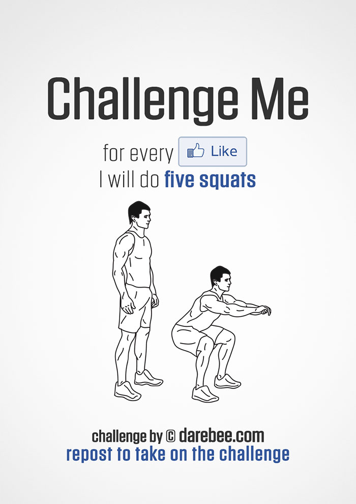 Challenge Me to Squats on Facebook