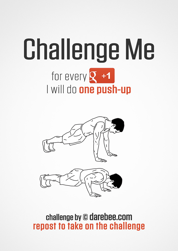 Challenge Me to Push-Ups on Google+