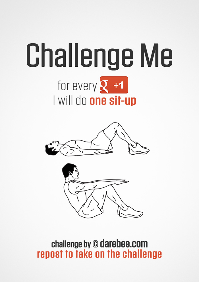 Challenge Me to Sit-Ups on Google+