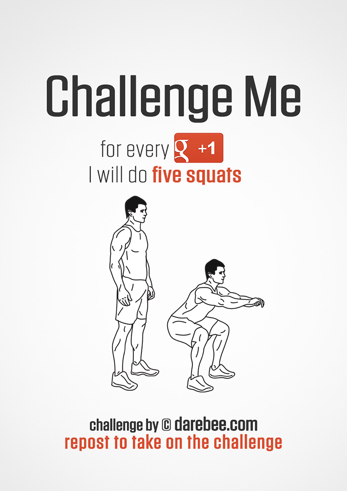 Challenge Me to Squats on Google+