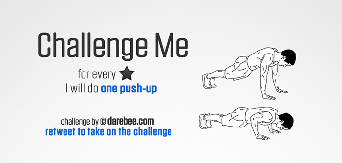 Challenge Me to Push-Ups on Twitter