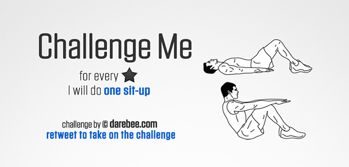 Challenge Me to Sit-Ups on Twitter