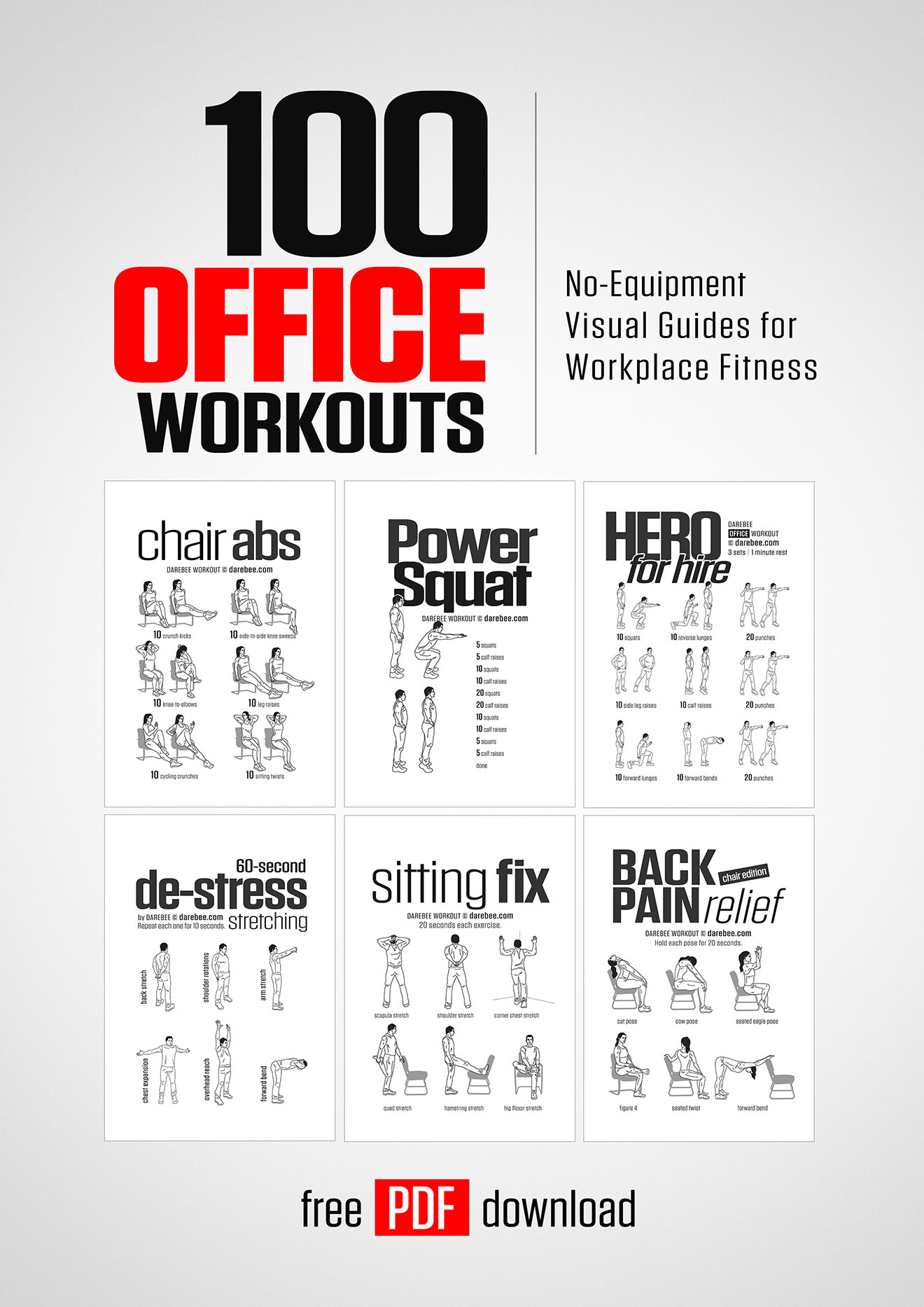 100 office workouts by darebee