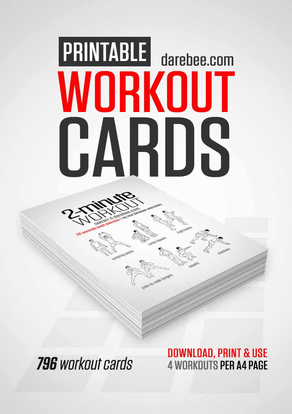 picture regarding Printable Trx Workout named Push Exercise Playing cards