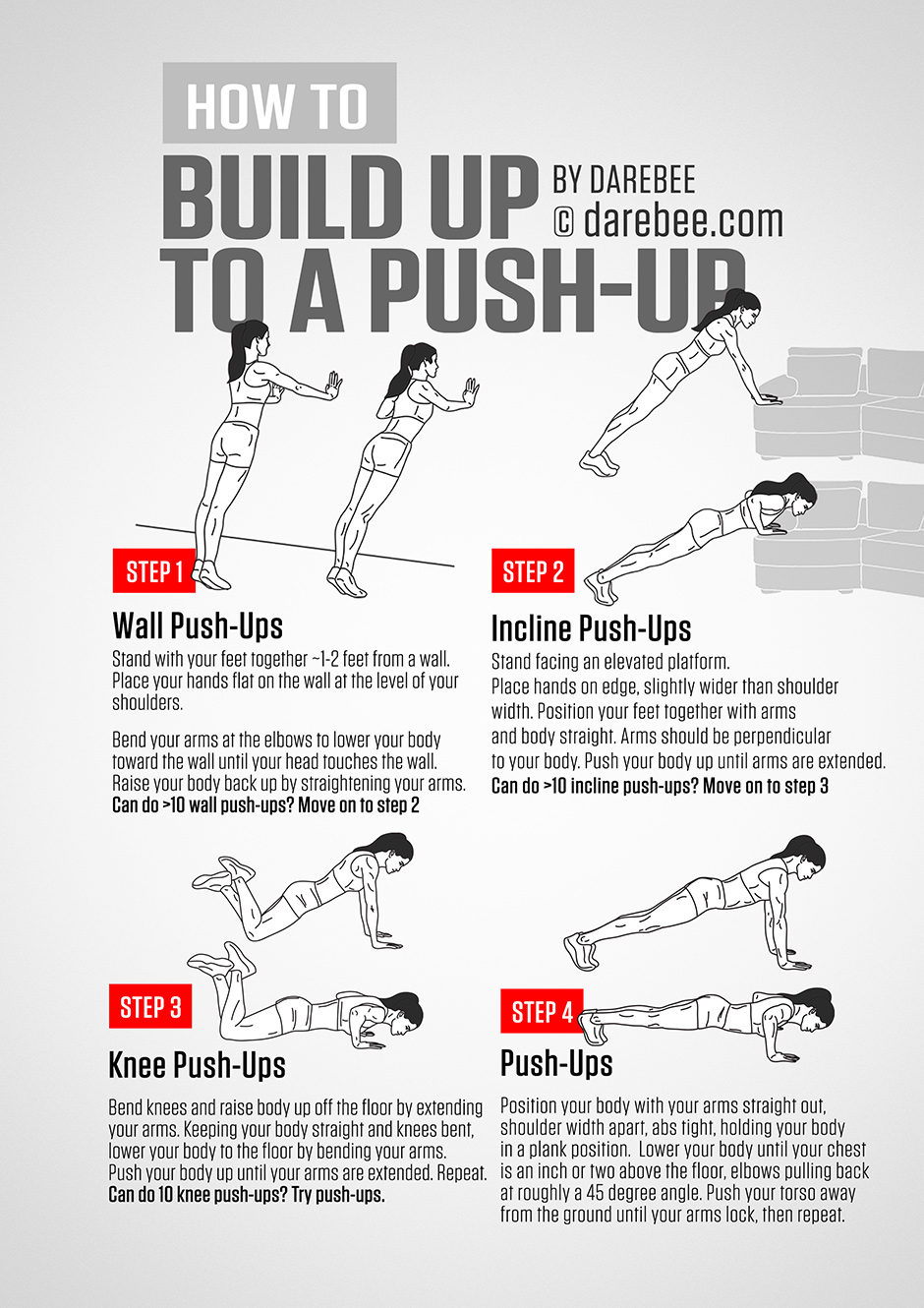 Push ups guide for Steps to start building a house