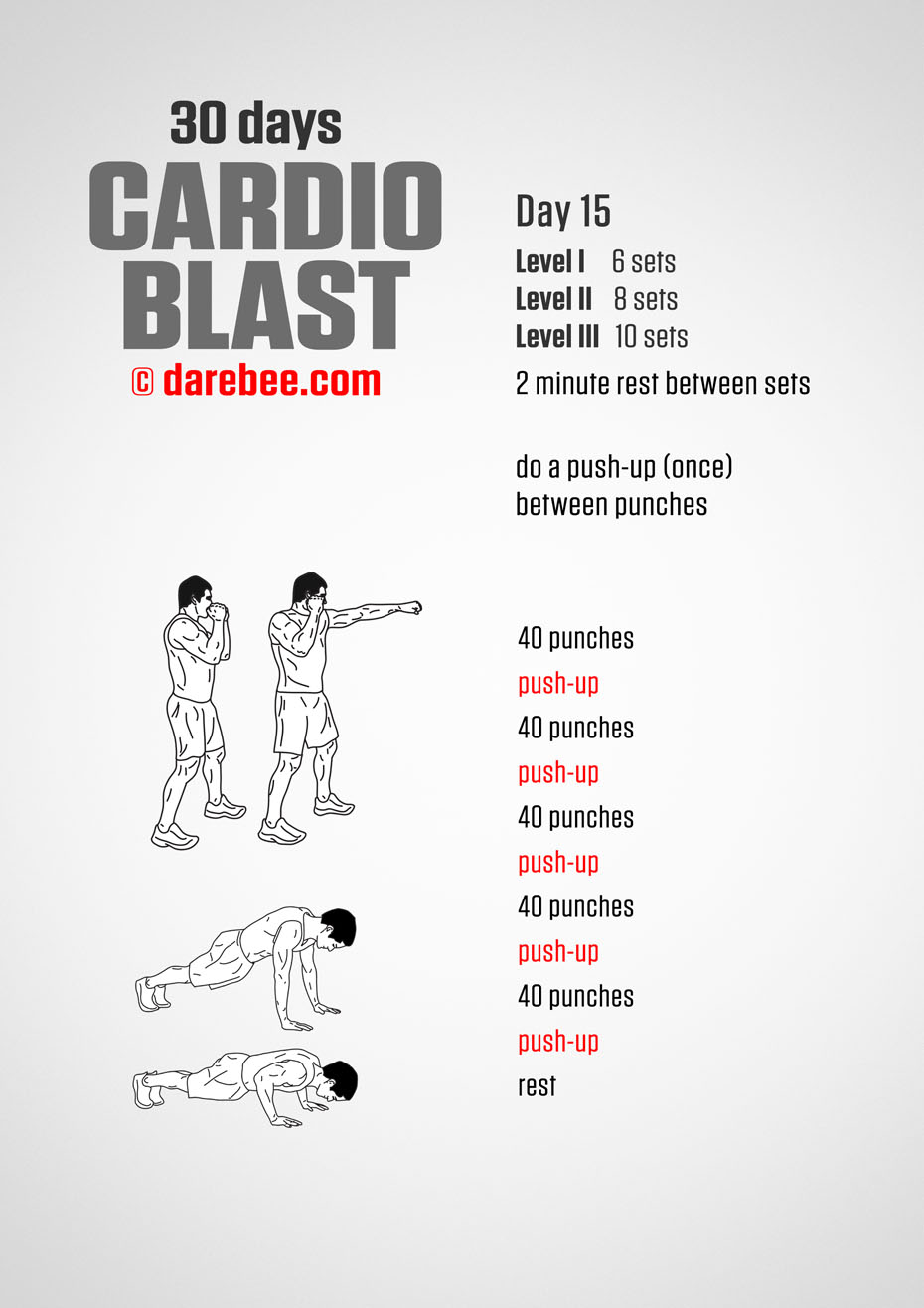30 Days of Cardio Blast by DAREBEE