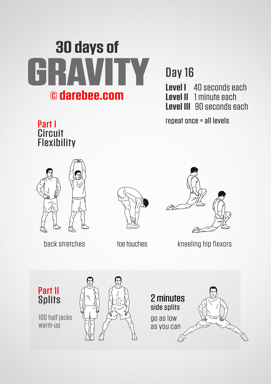 30 Days of Gravity by DAREBEE