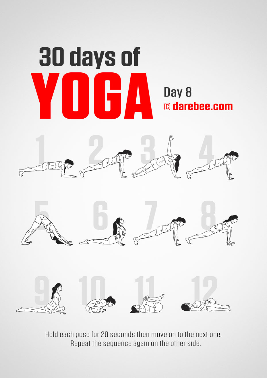 30 Days of Yoga - Program by DAREBEE