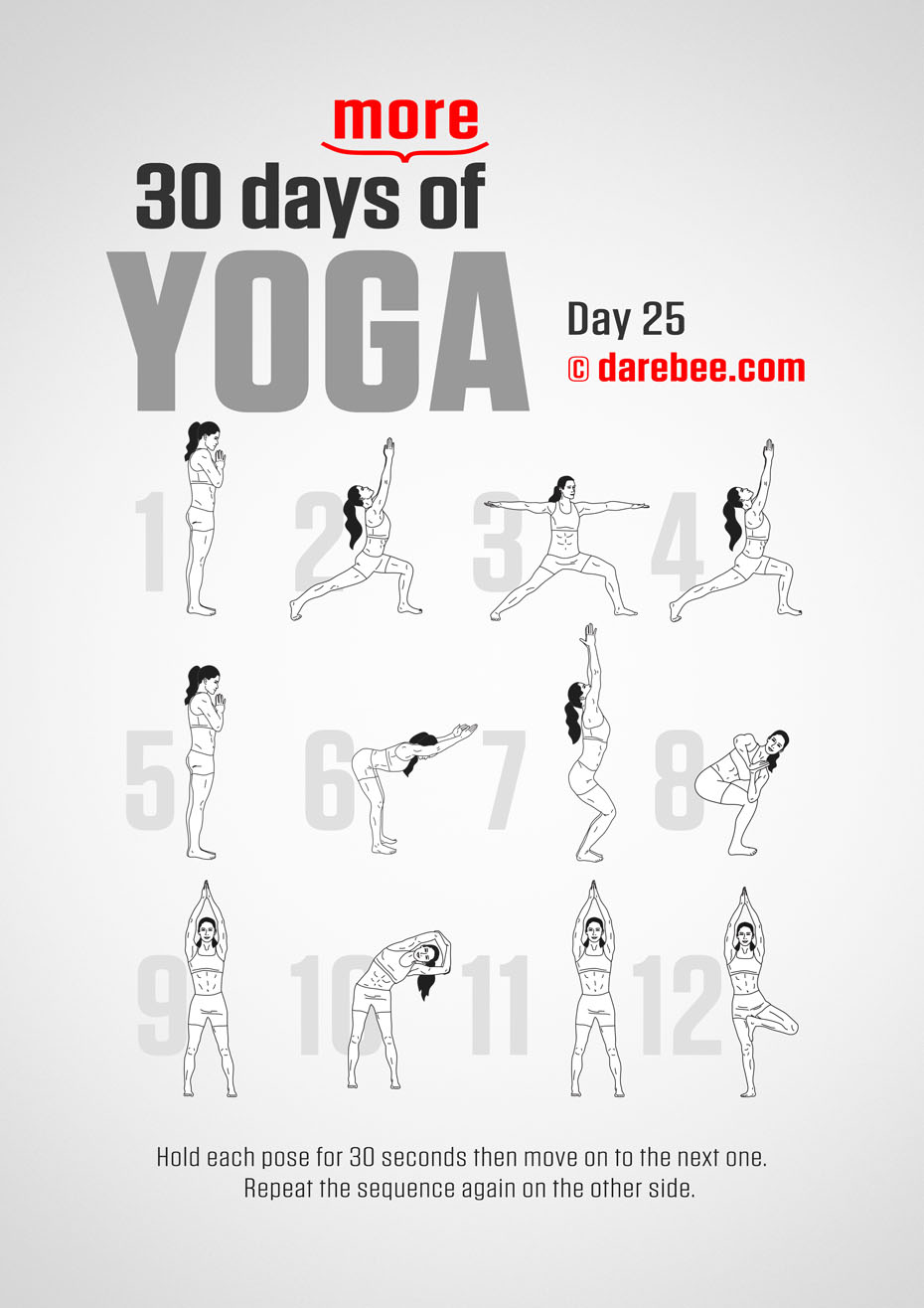 30 Days More of Yoga - Program by DAREBEE