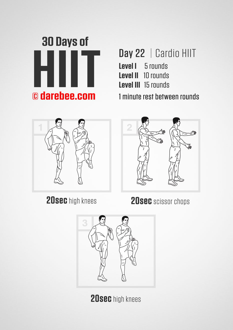 30 Days of HIIT by DAREBEE