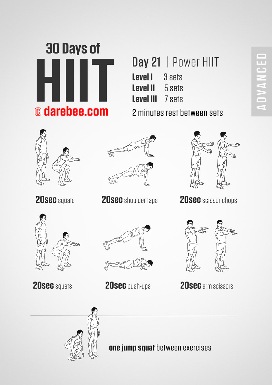 30 Day of HIIT Advanced by DAREBEE