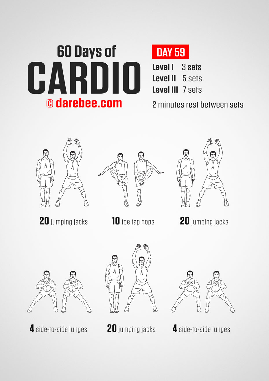 60 Days of Cardio by DAREBEE