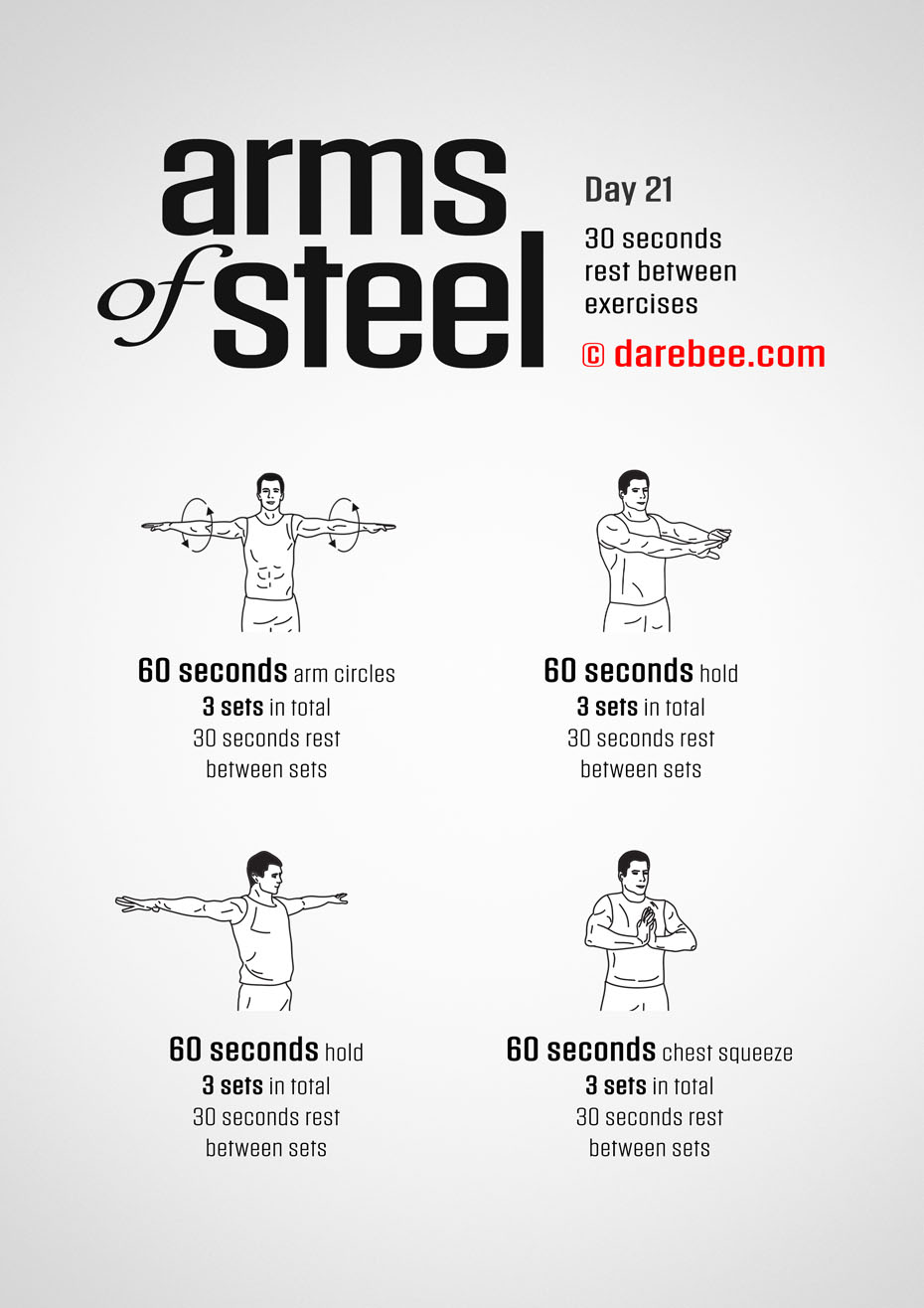 Arms of Steel - Upperbody Program by DAREBEE