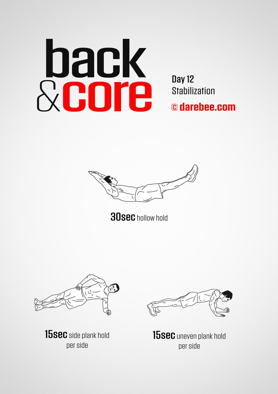 Back and Core - 30 Day Program by DAREBEE