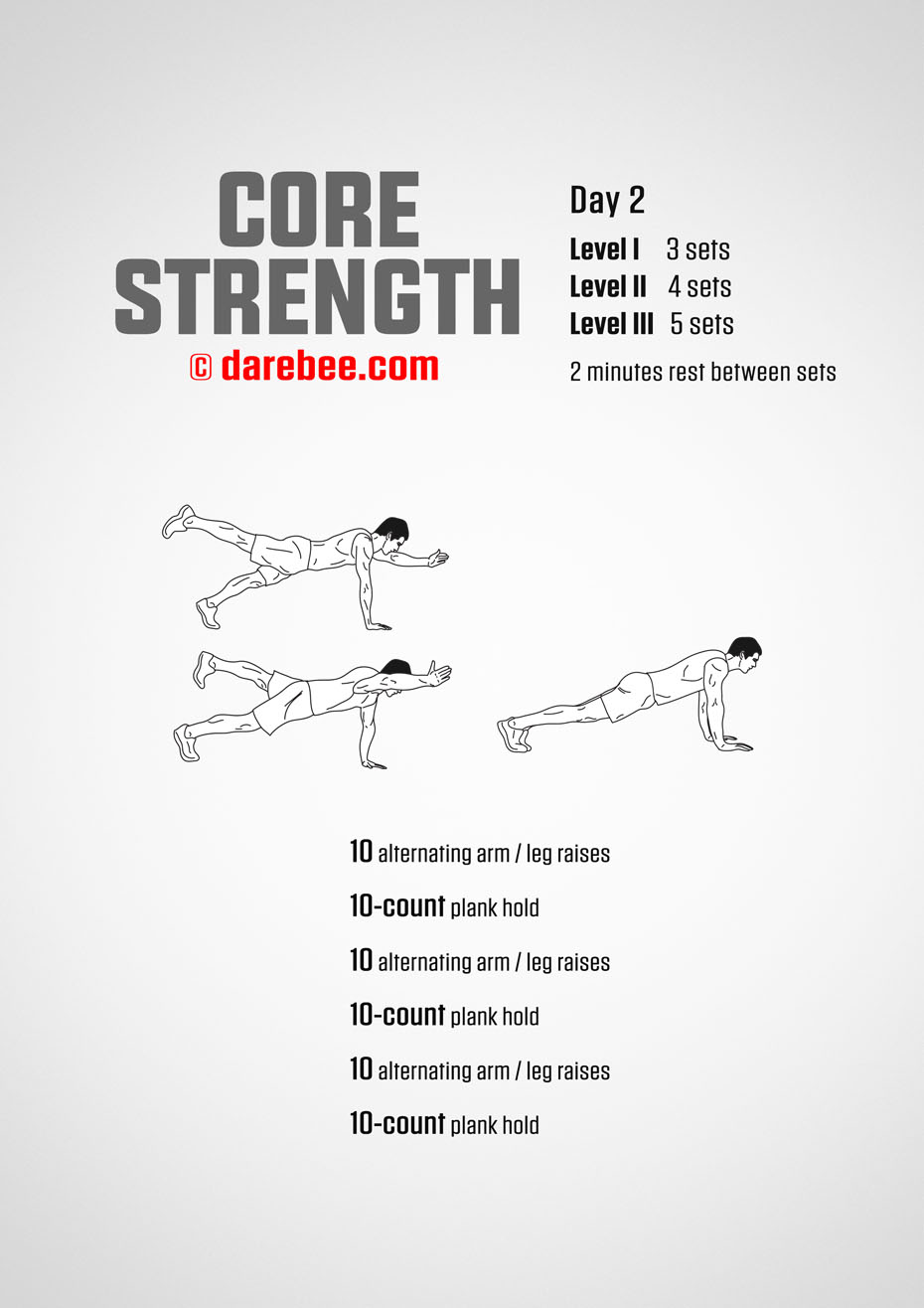 Core Strength - 30 Day Core Bodyweight Program