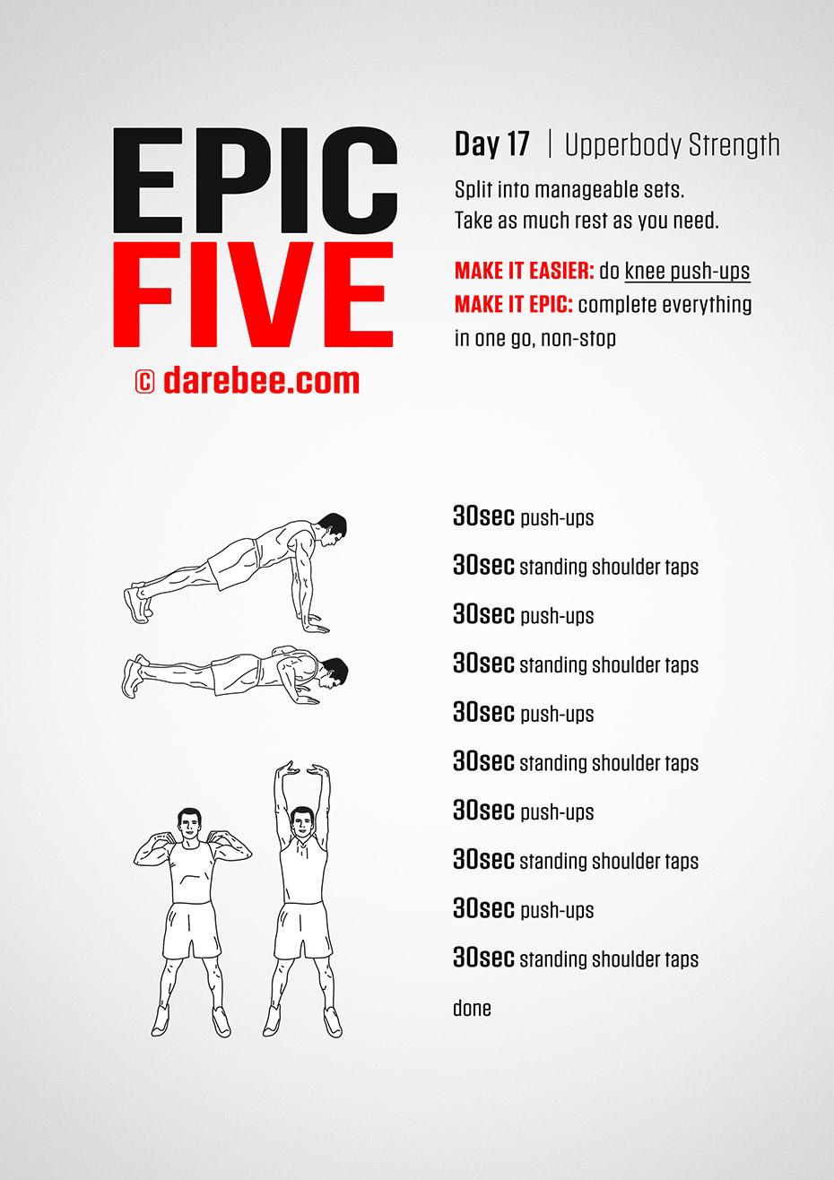 Epic Five: 30-Day Fitness Program