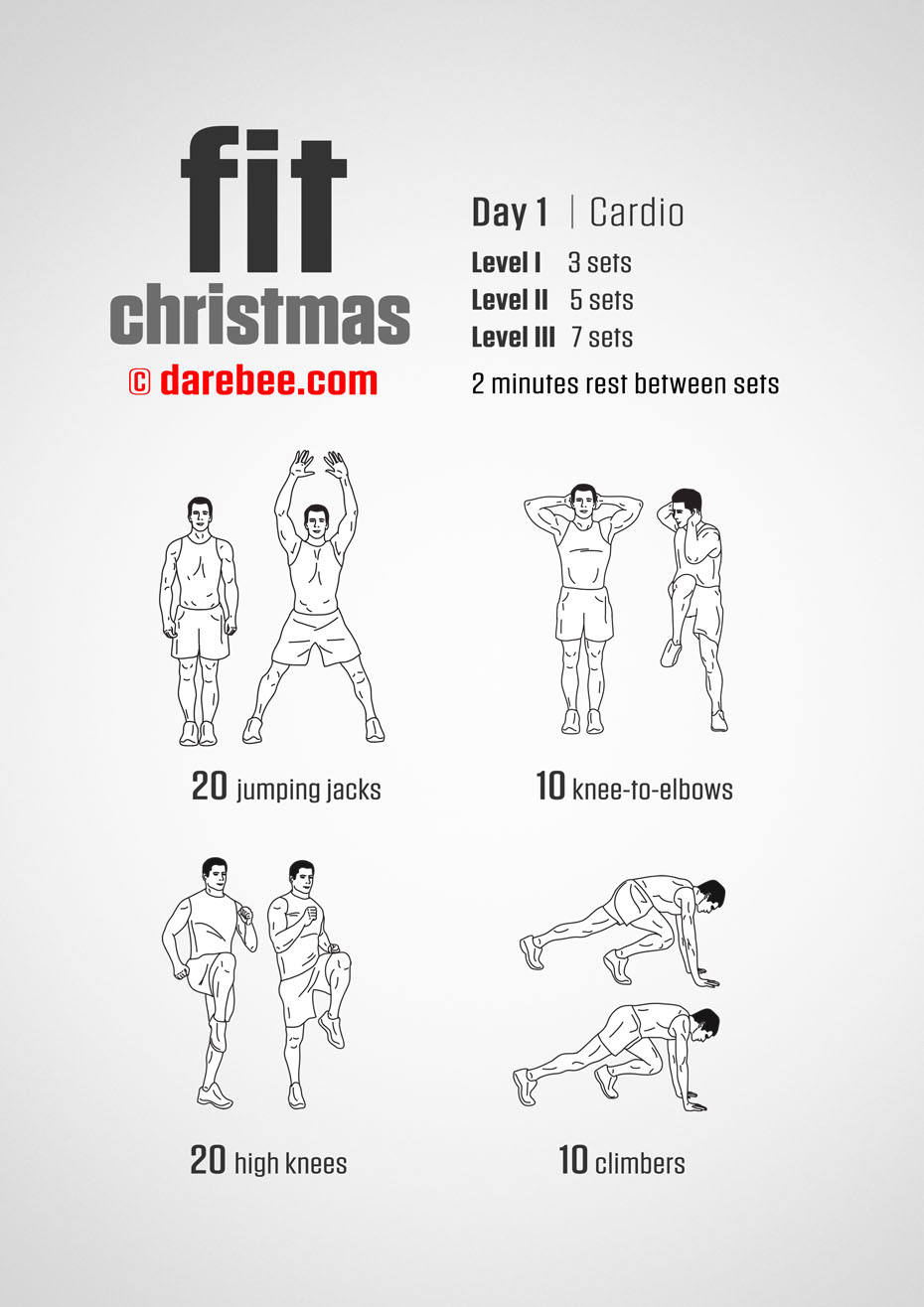 Fit Christmas 12-Day Program by DAREBEE