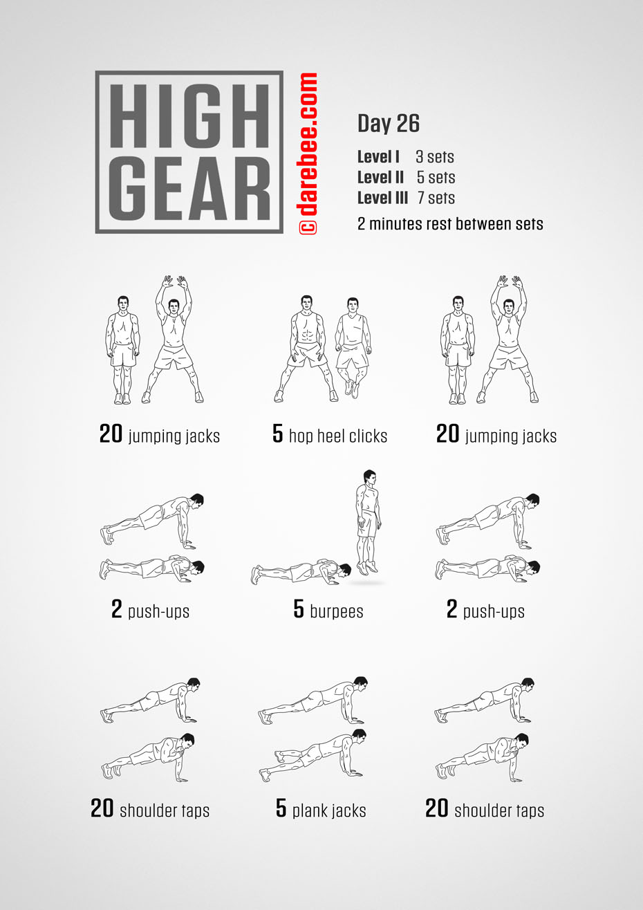 High Gear - 30 Day High Impact Bodyweight Program