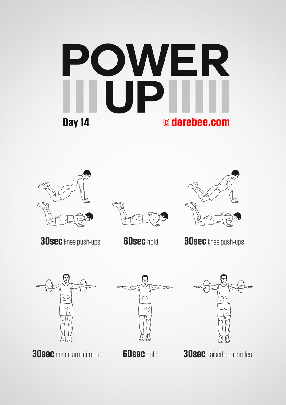 Power-Up - 30 Day Tendon Strength Low Impact Bodyweight Program by DAREBEE