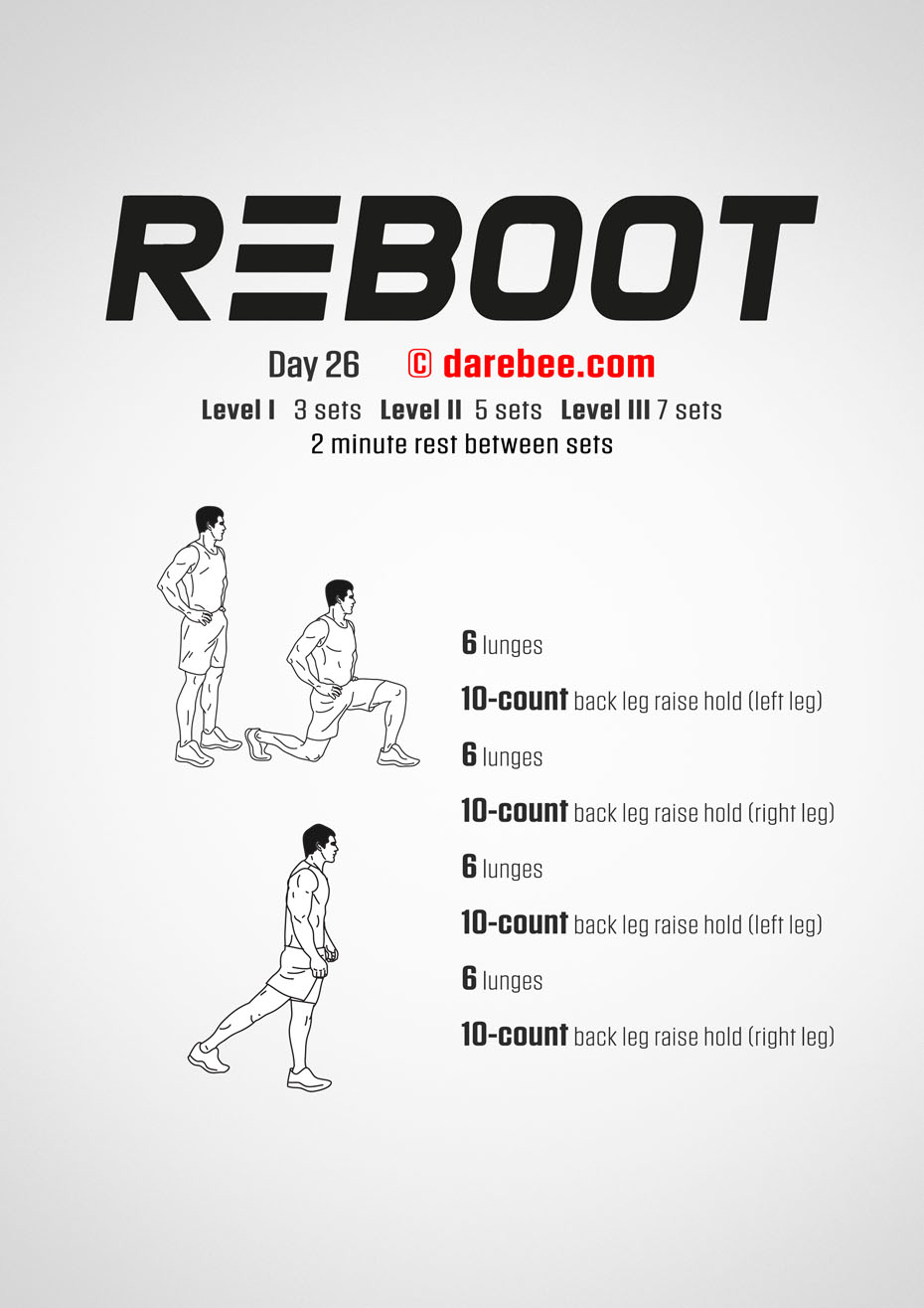 Reboot - No-Equipment Fitness Program by DAREBEE