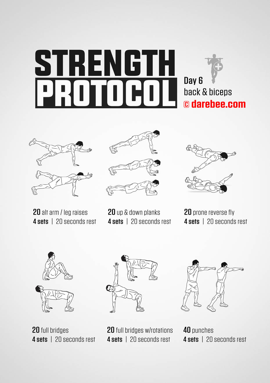 Strength Protocol: 30-Day Strength No-Equipment Program