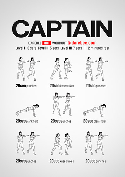 Captain a Full Body no equipment Darebee workout