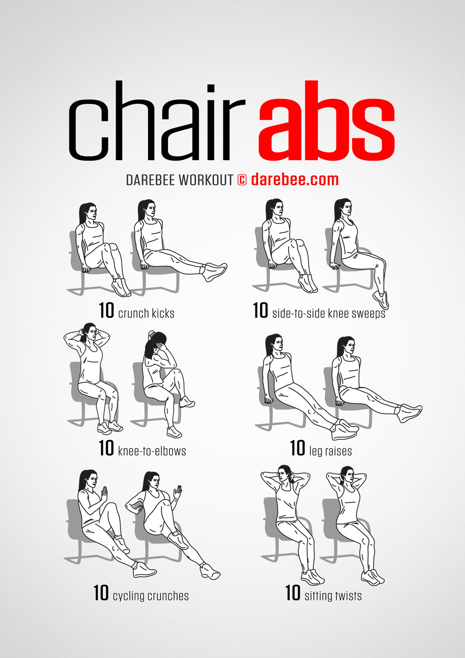 sc 1 st  Darebee & Chair Abs Workout