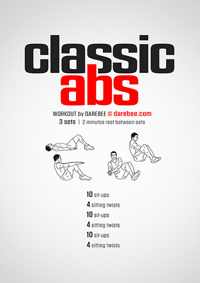 Light abs free workout PDF by Darebee
