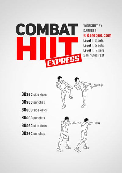 Combat High Intensity Interval Training program from Darebee, totally free