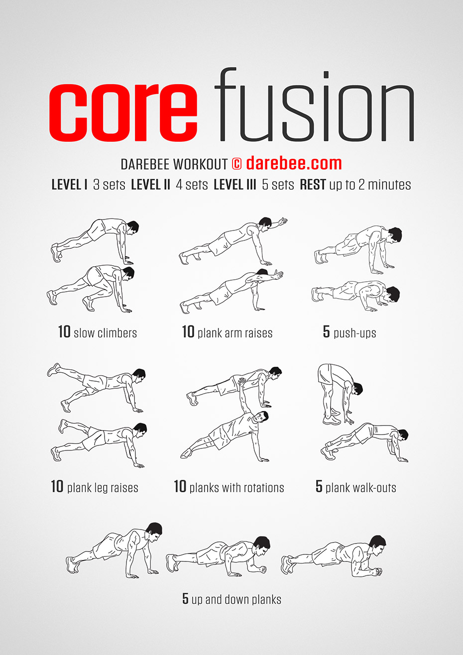 core workouts at home fusion workout 30667