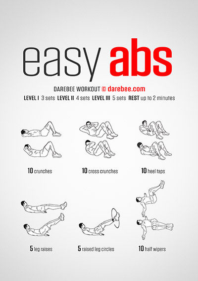 Easy Abs free Darebee abdominal muscles workout