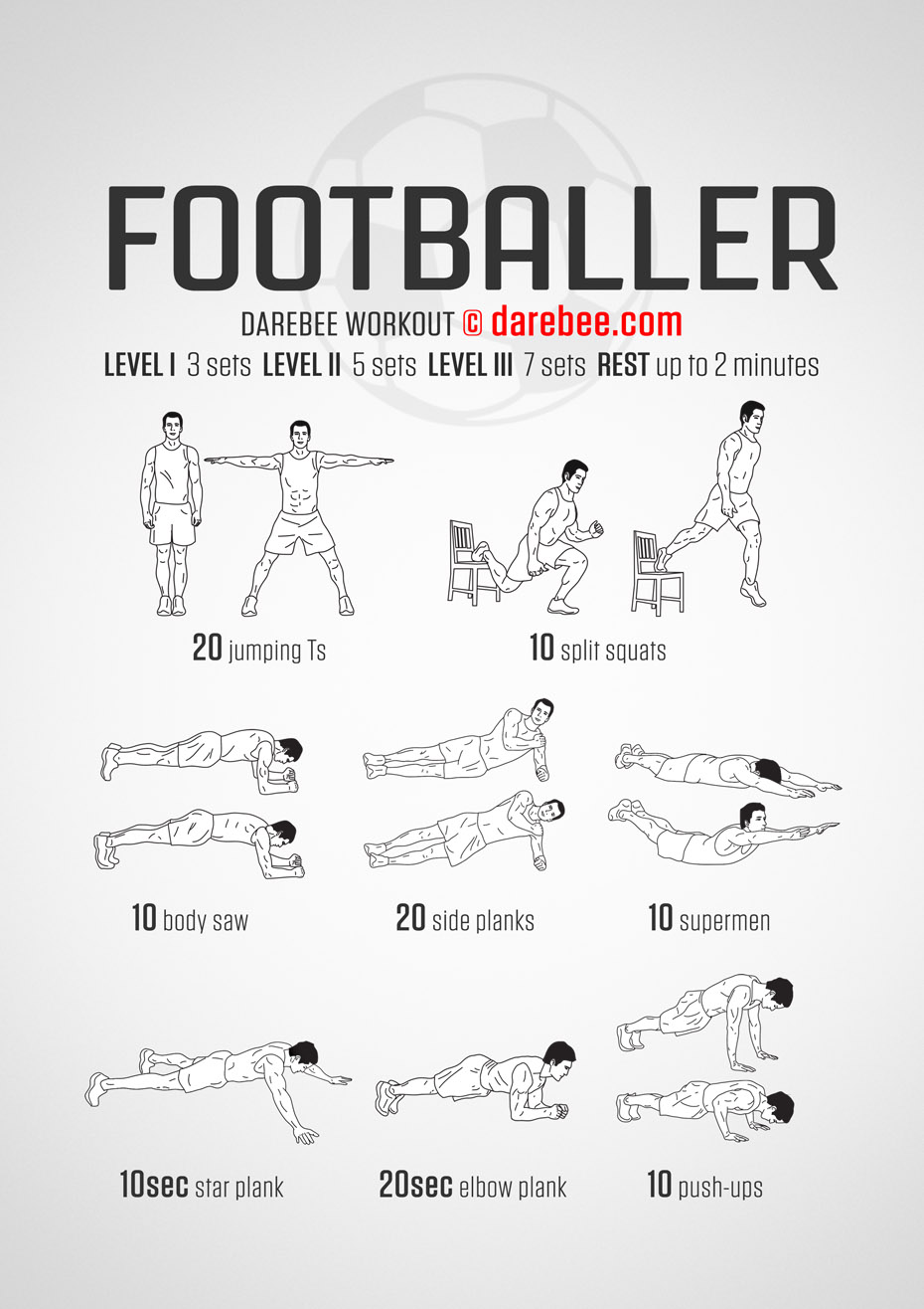 Gym workout routines for soccer players