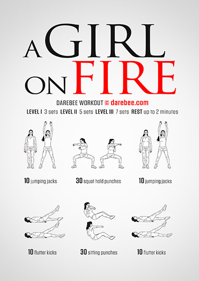 Girl on Fire free workout by Darebee