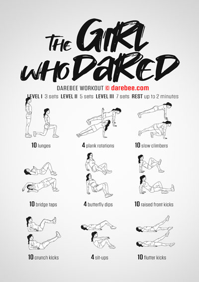 The Girl Who Dared Total Body Workout by Darebee