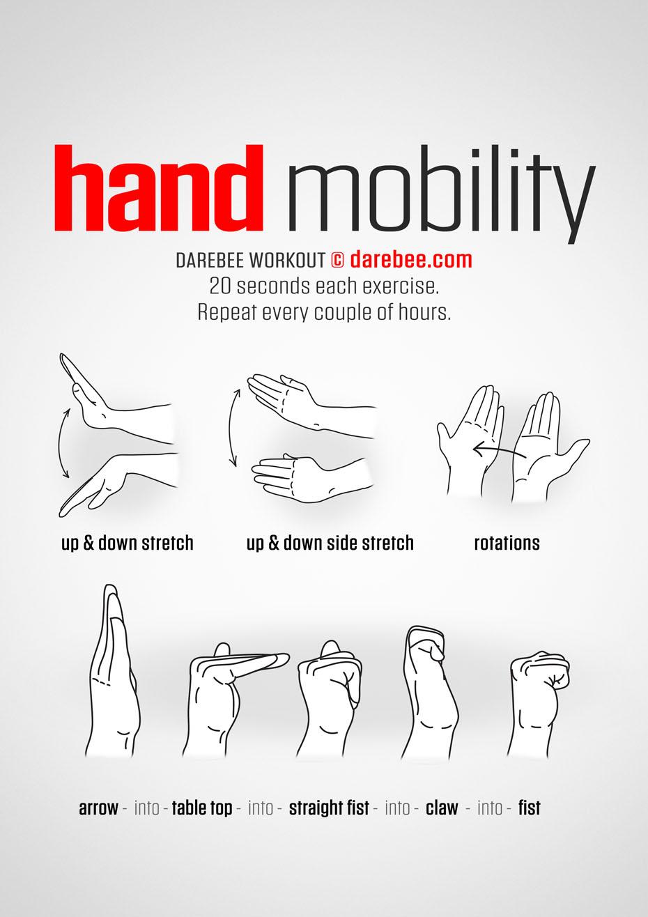 hand mobility. Black Bedroom Furniture Sets. Home Design Ideas