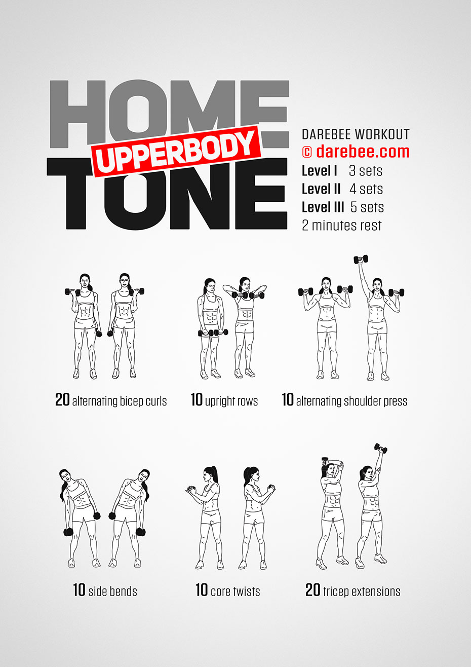Home Upperbody Tone Workout