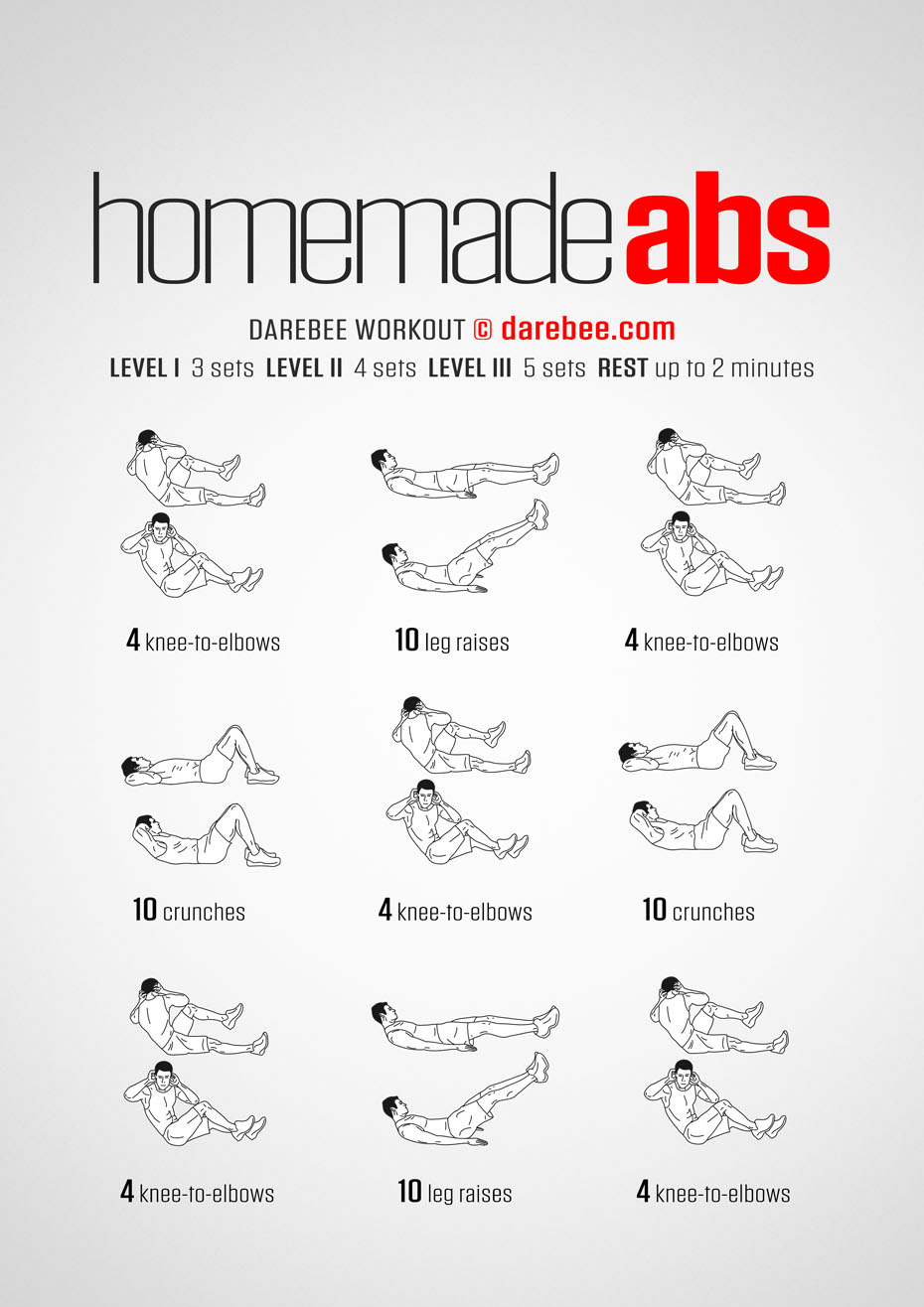 Homemade Abs Workout