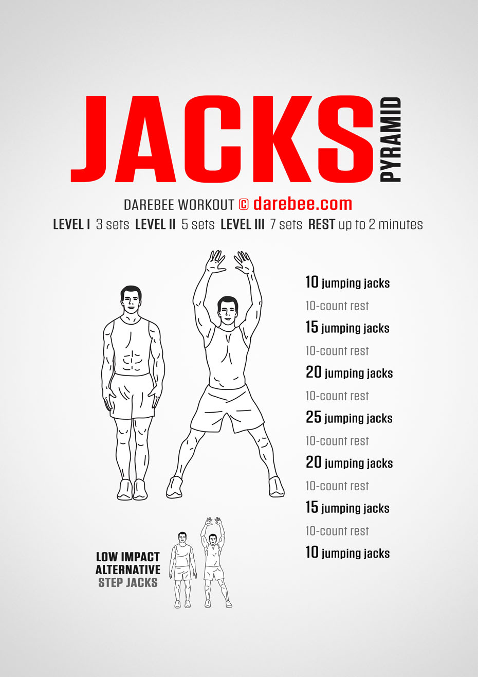 jacks pyramid workout Jumping Jacks Workout for Beginners