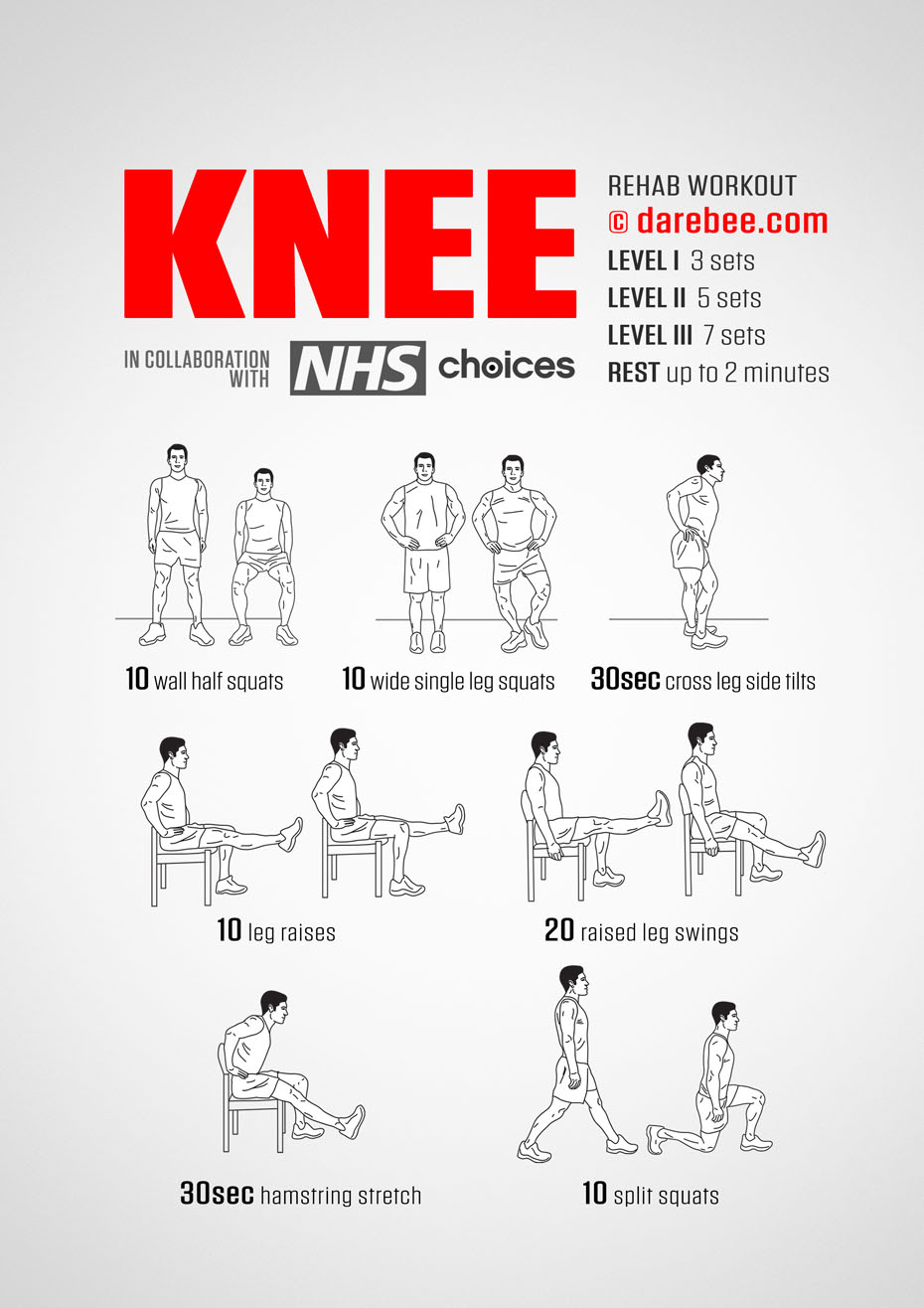Image result for rehabilitation exercises for knee