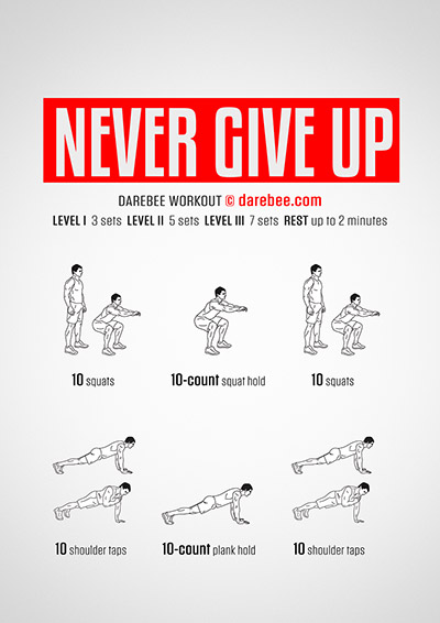 Never Give Up Workout