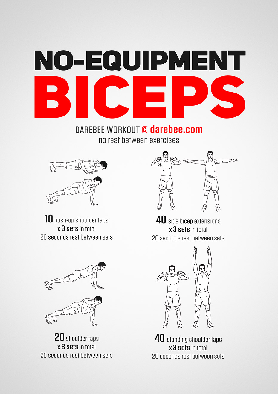 No-Equipment Biceps Workout